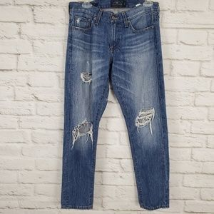 Lucky Brand Sienna Cigarette Jeans Destroyed Blue